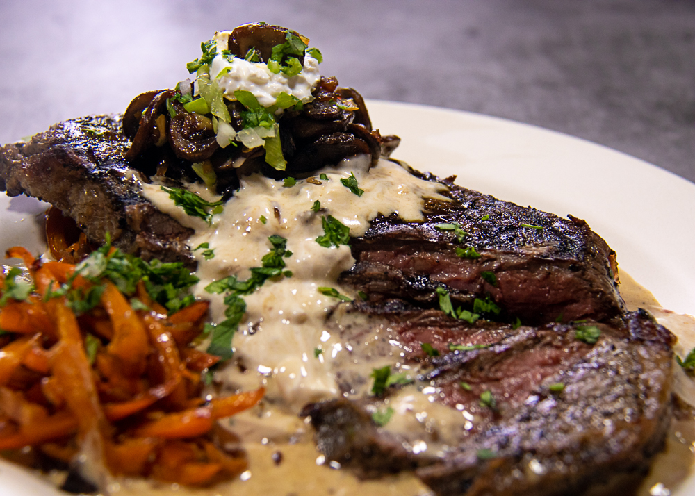 Steak With Gorgonzola Sauce A Pinch Of Salt Lake